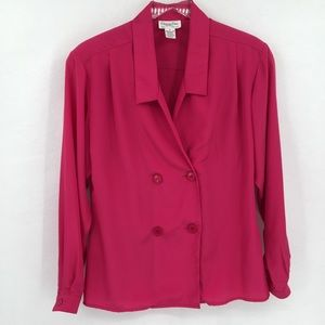 Christian Dior Chemises vintage blouse top pink 8